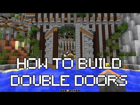 How to create big working animated doors in MineCraft - PirateCraft