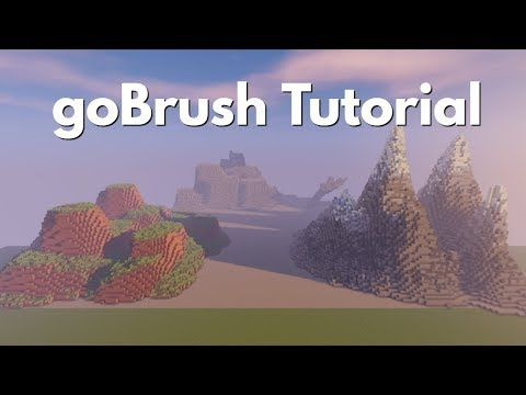 goBrush tutorial! - Easy and Simple Minecraft terrain!