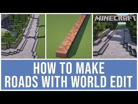Minecraft World Edit Tutorial - How To Make Roads - World Edit Hacks