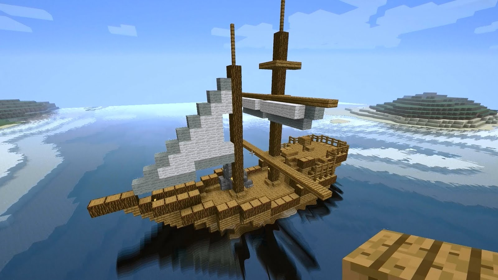 How To Build Minecraft Ship