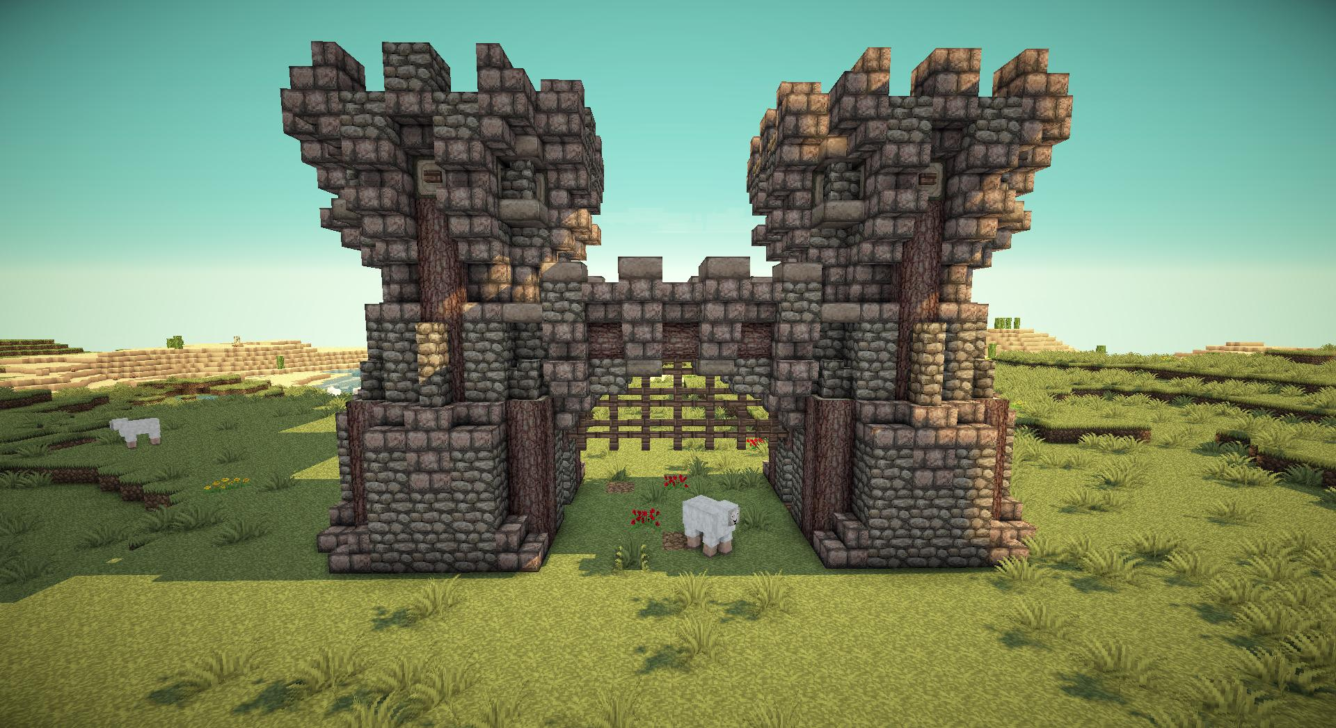 Minecraft Working Portcullis Gates On Piratecraft