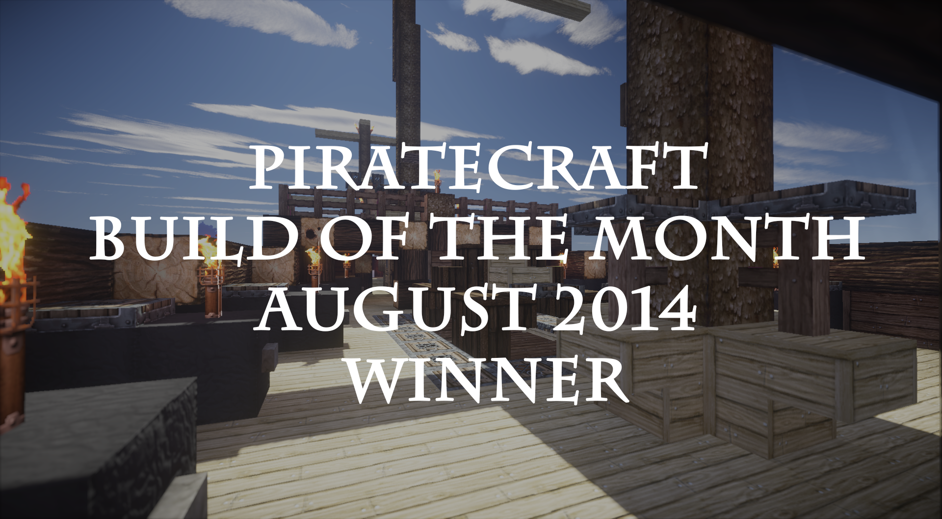 August 2014 Build Of The Month PirateCraft Pirate Ship
