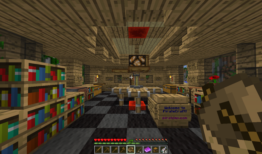 This is the piratecraft spawn